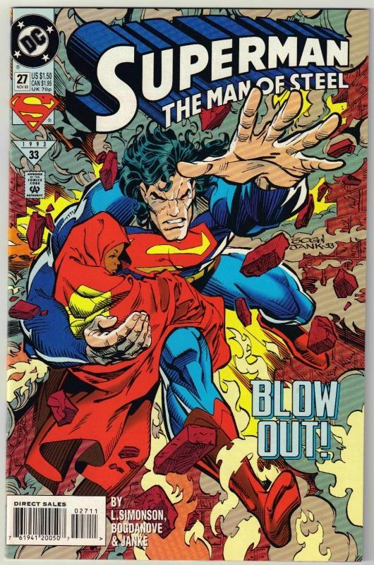 Superman  The Man of Steel #27 comic book mint 9.8