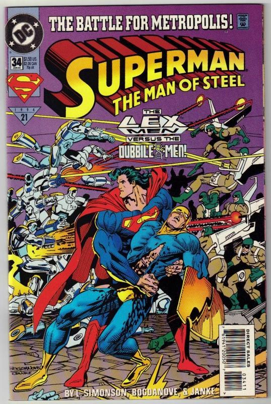 Superman  The Man of Steel #34 comic book mint 9.8