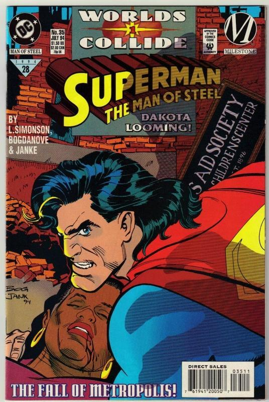 Superman  The Man of Steel #35 comic book mint 9.8