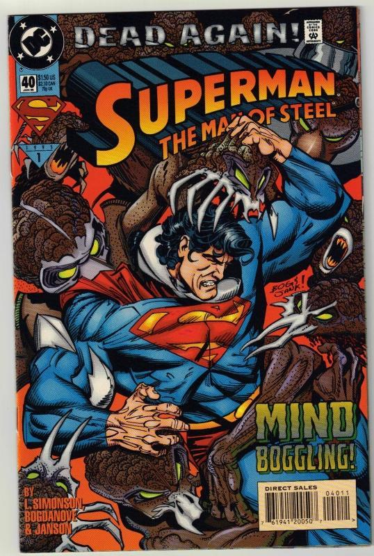 Superman  The Man of Steel #40 comic book near mint 9.4