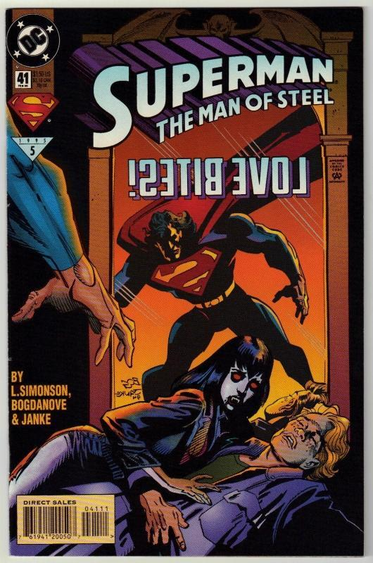 Superman  The Man of Steel #41 comic book near mint 9.4