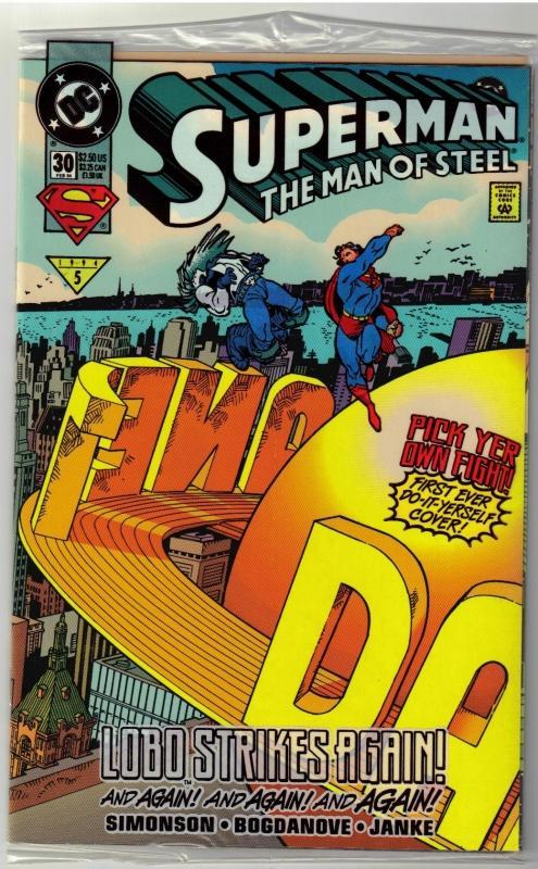 Superman  The Man of Steel #30 comic book mint 9.8