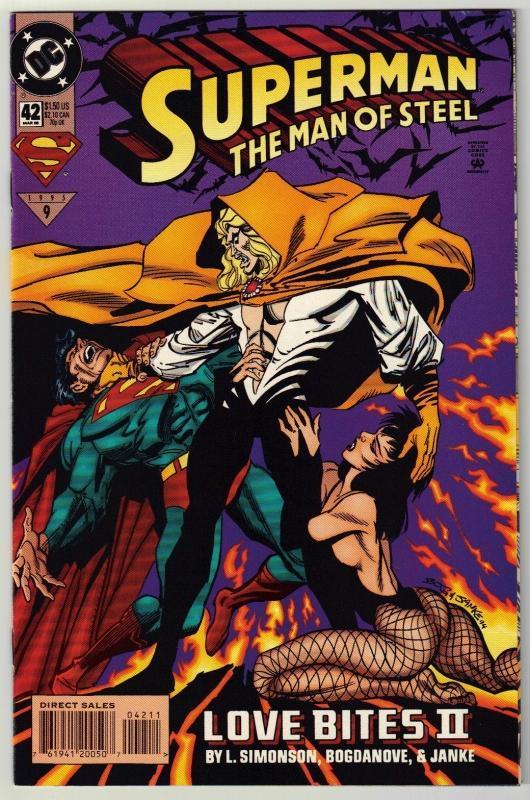 Superman  The Man of Steel #42 comic book near mint 9.4