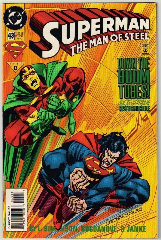 Superman  The Man of Steel #43 comic book near mint 9.4