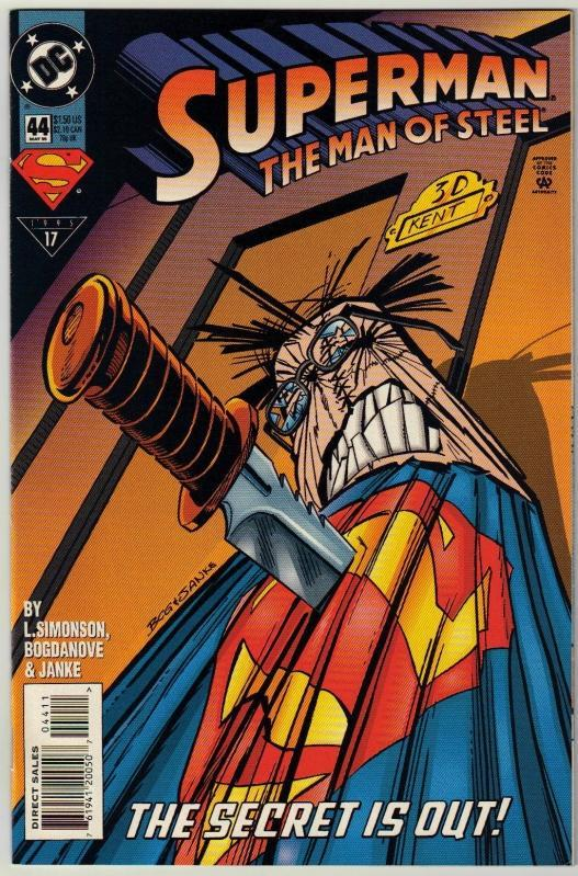Superman  The Man of Steel #44 comic book near mint 9.4
