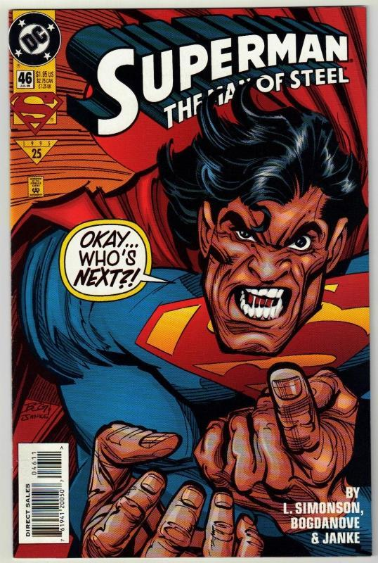 Superman  The Man of Steel #46 comic book near mint 9.4
