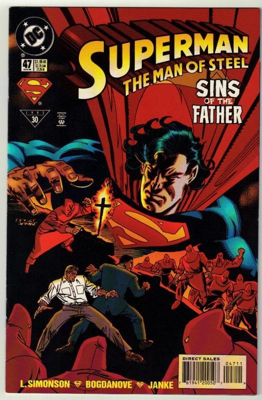 Superman  The Man of Steel #47 comic book near mint 9.4