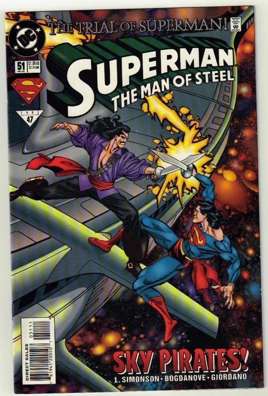 Superman  The Man of Steel #51 comic book near mint 9.4