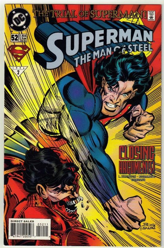 Superman  The Man of Steel #52 comic book near mint 9.4