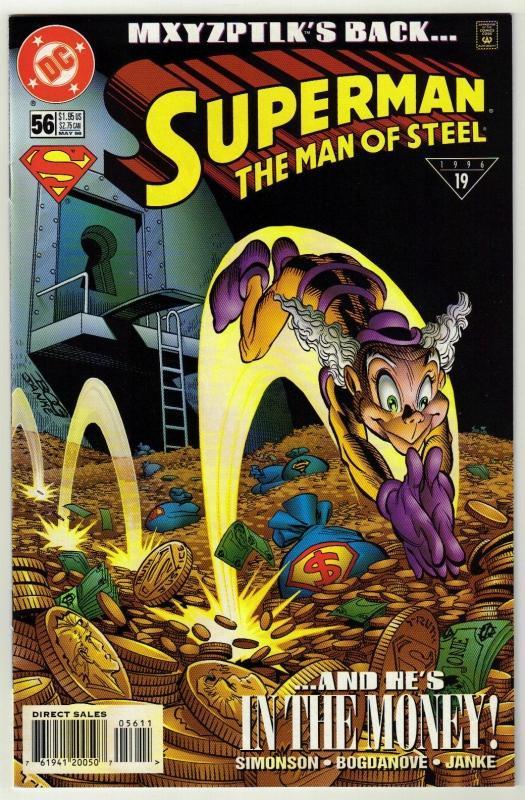 Superman  The Man of Steel #56 comic book near mint 9.4