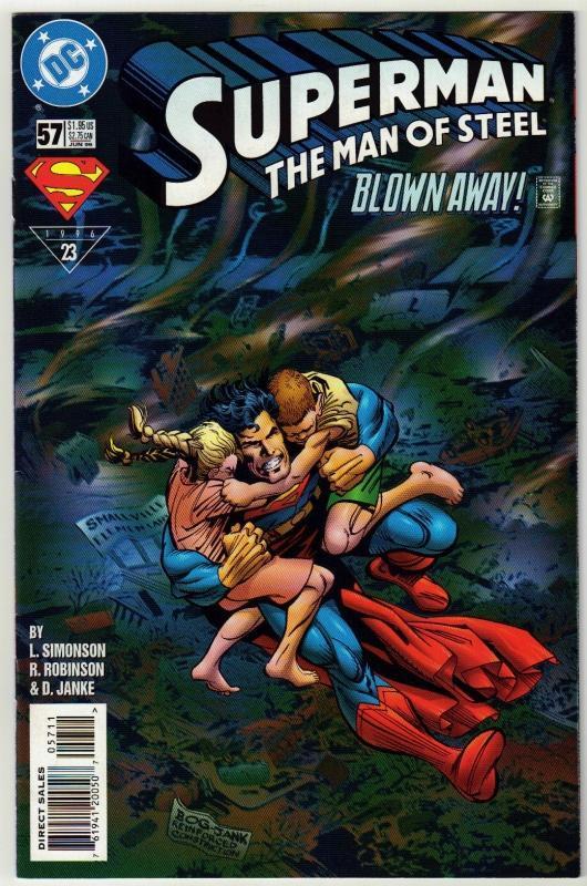 Superman  The Man of Steel #57 comic book near mint 9.4