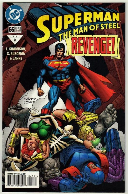 Superman  The Man of Steel #65 comic book near mint 9.4