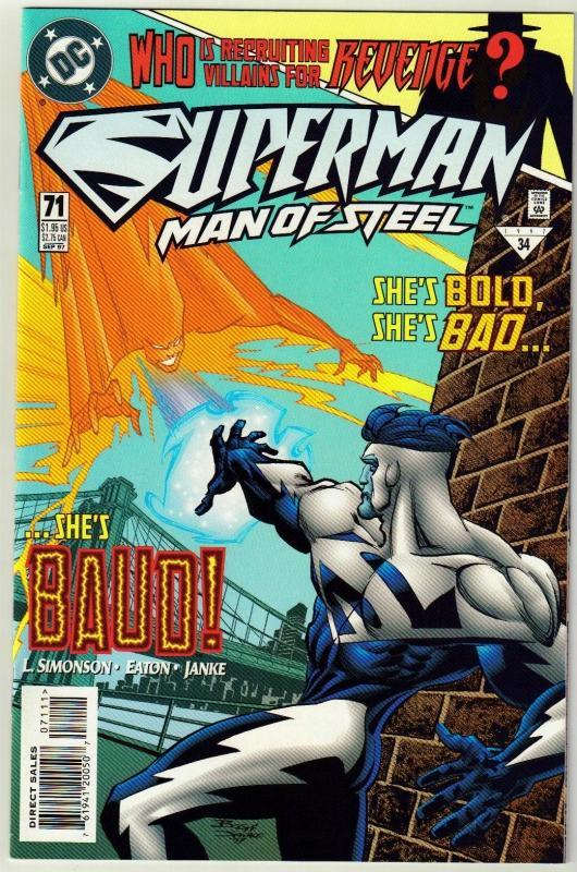 Superman  Man of Steel #71 comic book mint 9.8