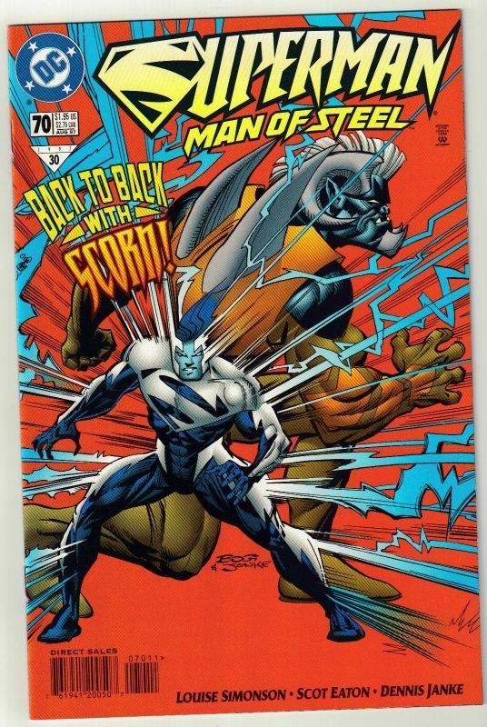 Superman  The Man of Steel #70 comic book mint 9.8