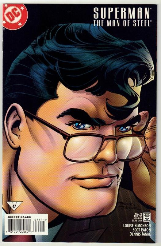 Superman  The Man of Steel #74 comic book near mint 9.4