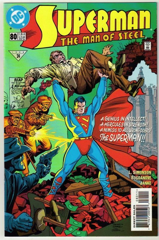 Superman  The Man of Steel #80 comic book near mint 9.4