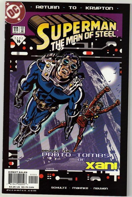 Superman  The Man of Steel #111 comic book near mint 9.4