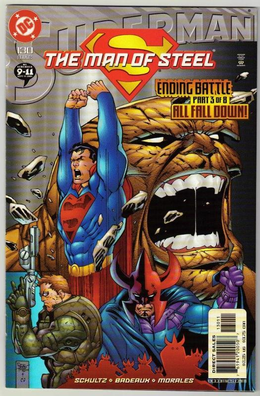 Superman The Man of Steel #130 comic book near mint 9.4