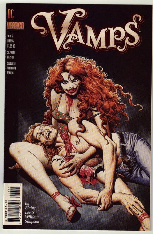 Vamps #4 Vertigo comic book near mint 9.4