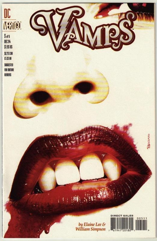 Vamps #5 Vertigo comic book near mint 9.4