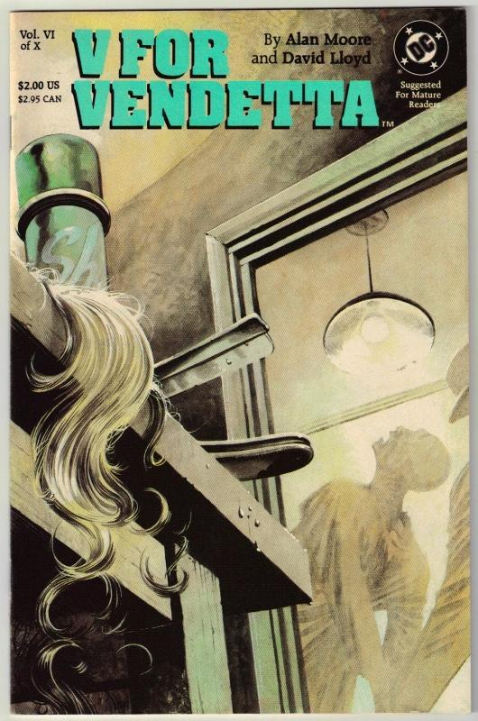 V For Vendetta #6 Vertigo comic book near mint 9.4
