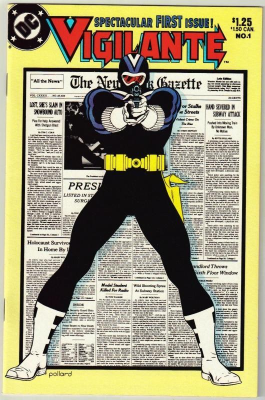 Vigilante #1 comic book  near mint 9.4