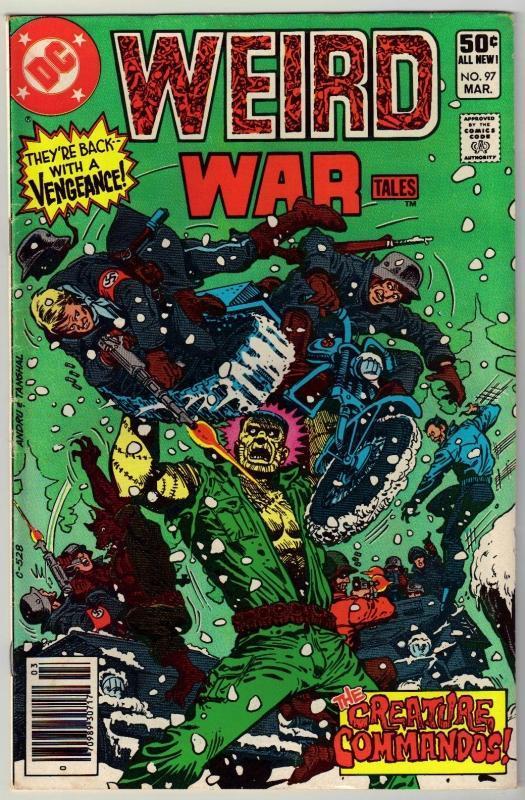Weird War Tales #97 comic book very fine 8.0