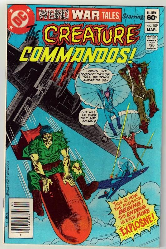 Weird War Tales #109 comic book fine 6.0
