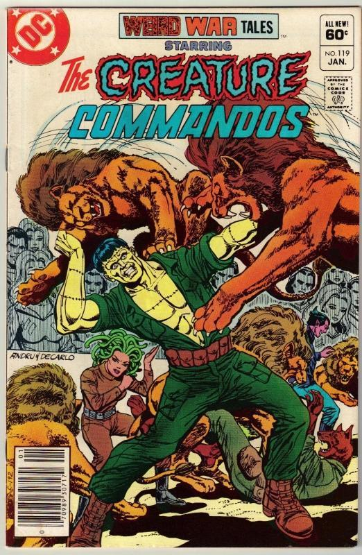 Weird War Tales #119 comic book very fine 8.0