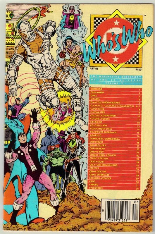 Who's Who #5 comic book near mint 9.4