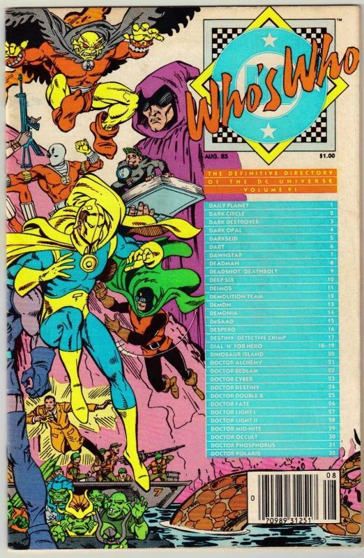 Who's Who #6 comic book very fine 8.0