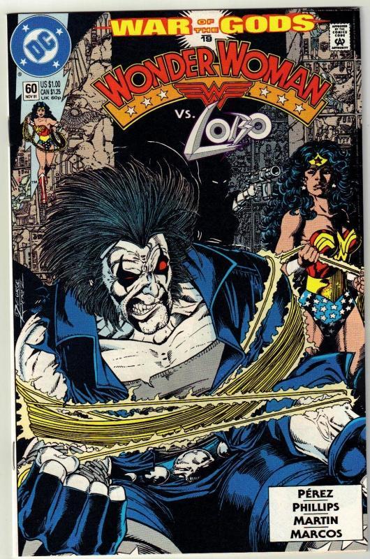 Wonder Woman #60 comic book near mint 9.4