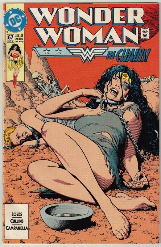 Wonder Woman #67 comic book near mint 9.4