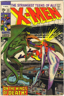 X-men #61 comic book g/vg 3.0