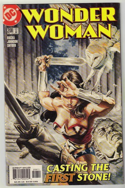 Wonder Woman #208 comic book near mint 9.4