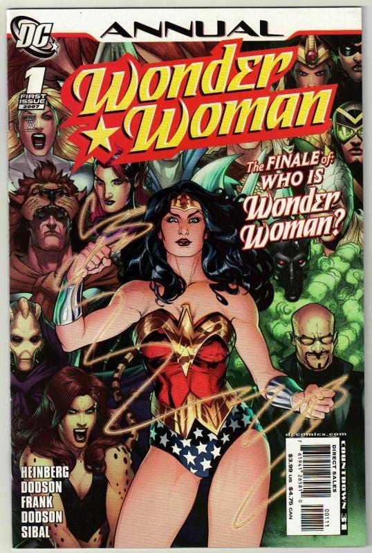 Wonder Woman annual #1 comic book near mint 9.4
