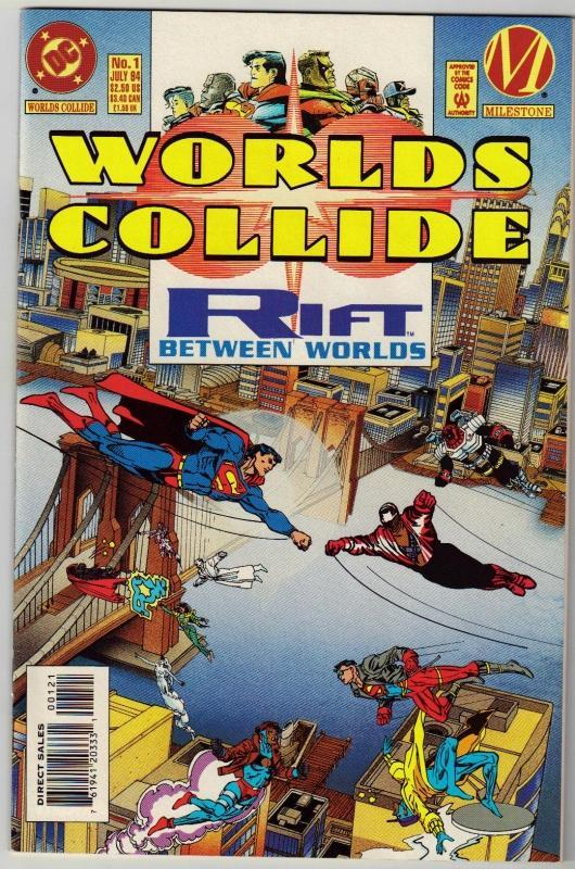 Worlds Collide regular edition #1 comic book mint 9.8