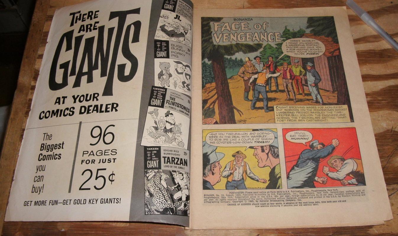 Bonanza #15 comic book vg 4.0
