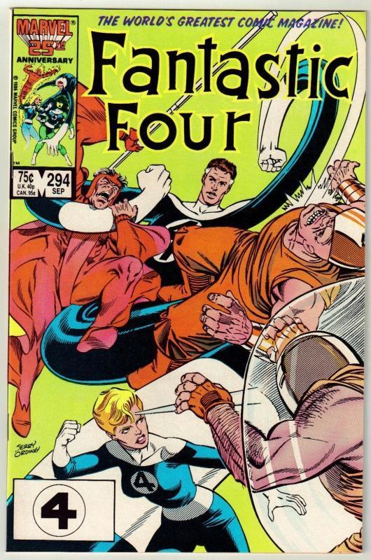 Fantastic Four #294 comic book near mint 9.4