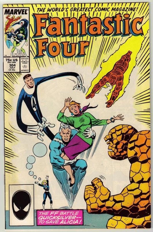 Fantastic Four #304 comic book near mint 9.4