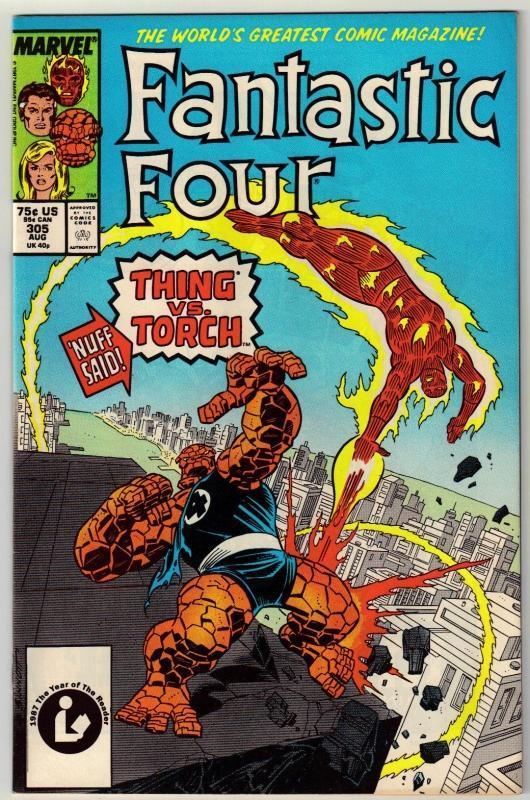 Fantastic Four #305 comic book near mint 9.4