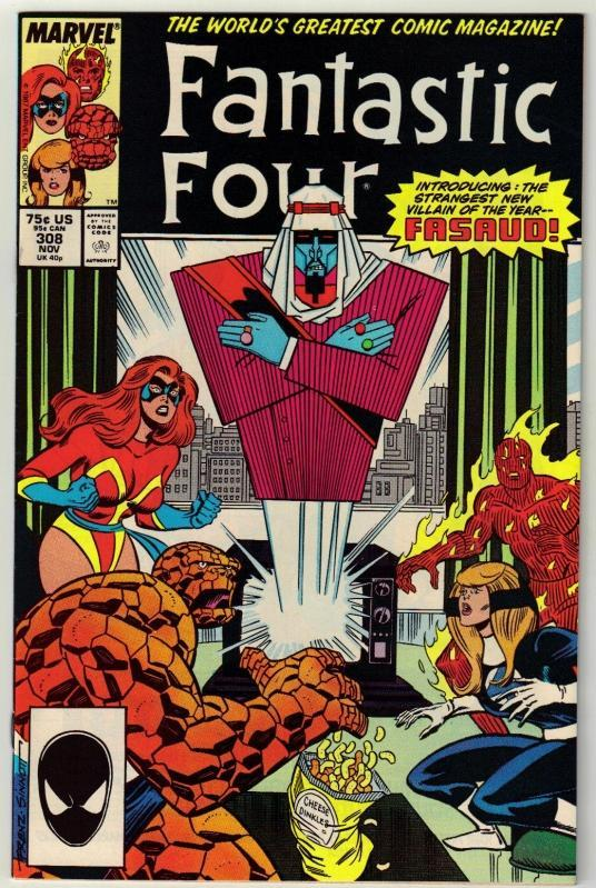 Fantastic Four #308 comic book near mint 9.4