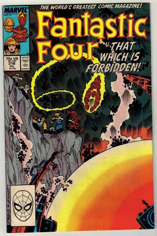 Fantastic Four #316 comic book near mint 9.4