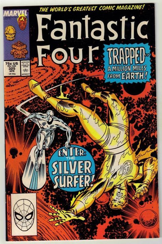 Fantastic Four #325 comic book near mint 9.4