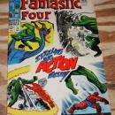 Fantastic Four #71 comic book  with letter page clipped