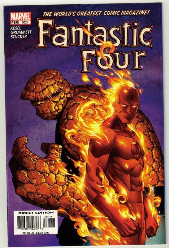 Fantastic Four #526 comic book near mint 9.4