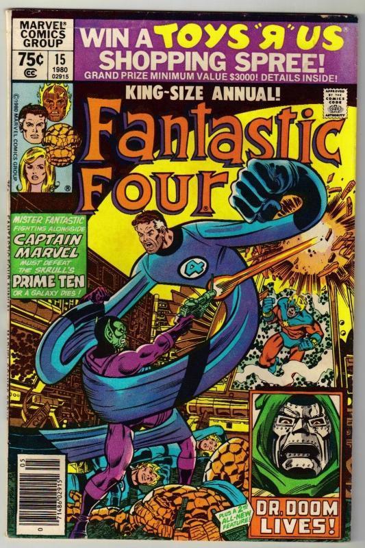 Fantastic Four annual #15 comic book very good/fine 5.0