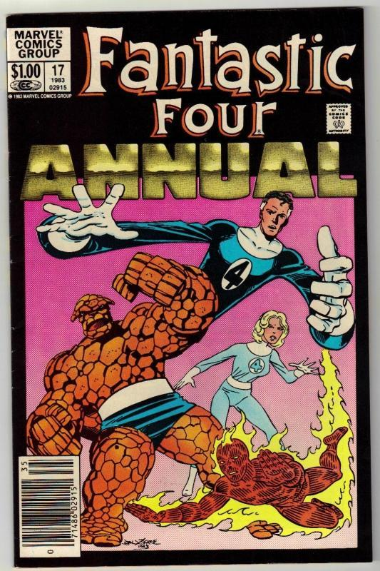 Fantastic Four annual #17 comic book very fine 8.0