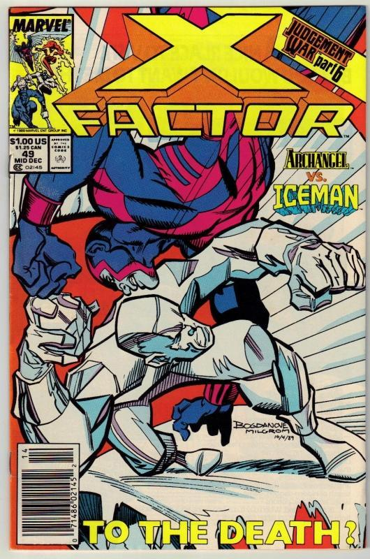 X-Factor #49 comic book near mint 9.4