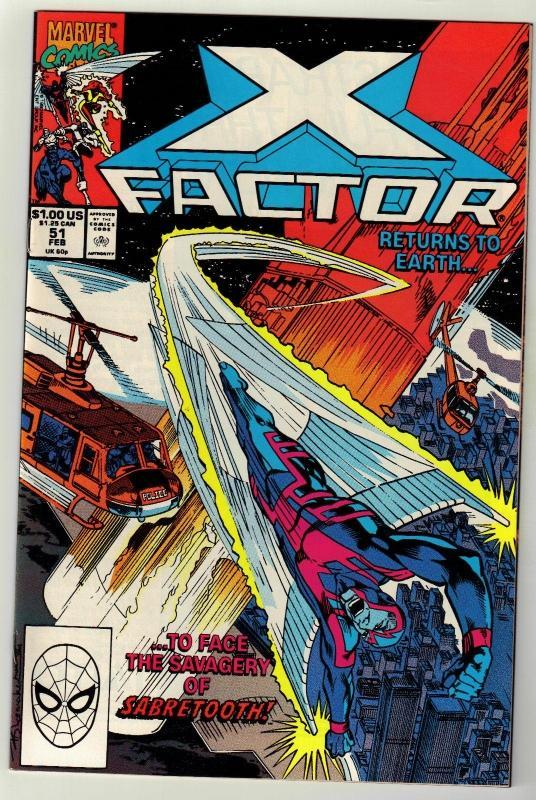 X-Factor #51 comic book near mint 9.4